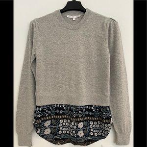 Veronica Beard 100% cashmere multi media sweater M